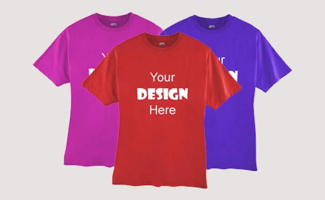 same day promotional custom t shirt printing 24 hour